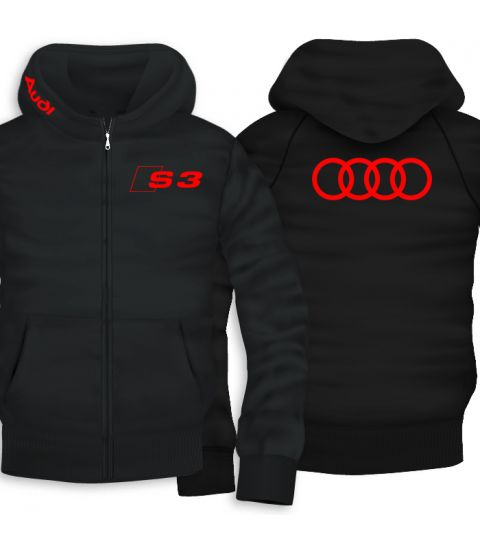 Audi S3 Back Print Zipper