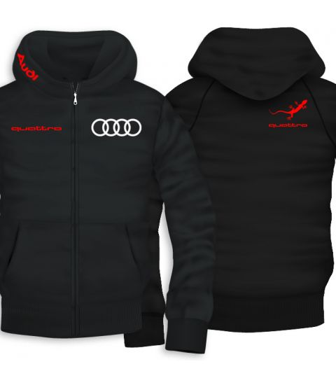 Audi Quattro Lizard Back Print Zipper